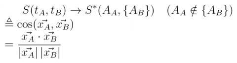 見出し語と類義語候補の類似度Sの計算